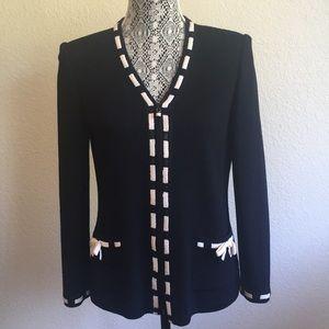 St. John Cardigan Jacket Santana Knit